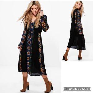 NWT BOOHOO Boho Maxi Dress